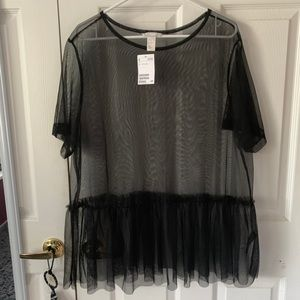 H&M sheer top